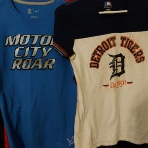 Detroit sport teams shirts woman fitted